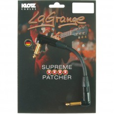 Klotz LaGrange Angled Patch Cable - 30cm Black w/Gold Contacts