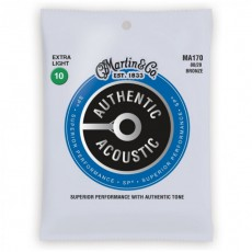 Martin MA170 Authentic Acoustic SP Strings, 80/20 Bronze Extra Light (.010-.047)