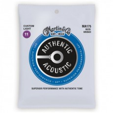 Martin MA175 Authentic Acoustic SP Strings, 80/20 Bronze Custom Light (.011-.052)