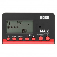 Korg MA-2 Pocket Digital Metronome, Black/Red
