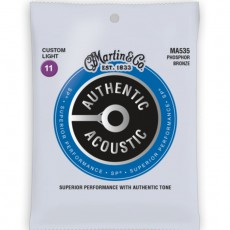 Martin MA535 Authentic Acoustic SP Strings, Phosphor Bronze, Custom Light (.011-.052)