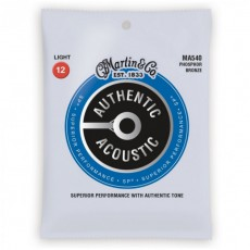 Martin MA540 Authentic Acoustic SP Guitar Strings, Phosphor Bronze, Light (.012-.054 )
