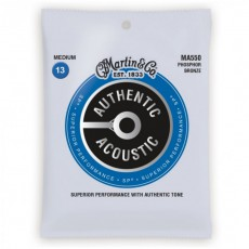 Martin MA550 Authentic Acoustic SP Guitar Strings, Phosphor Bronze, Medium (.013-.056)