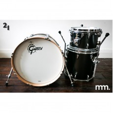 Gretsch Brooklyn Shells - Black Satin Metallic (Mike Johnston 21 Drums Kit)