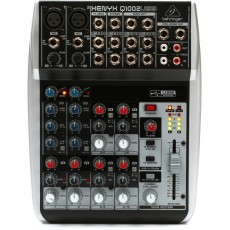 Behringer Q1002USB 10-Channel Mixer with XENYX Mic Preamps & Compressors