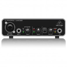 Behringer UMC22 USB Audio Interface with MIDAS Mic Preamp