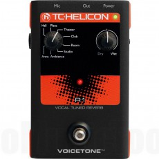 TC Helicon Voicetone R1 Vocal Tuned Reverb Effect