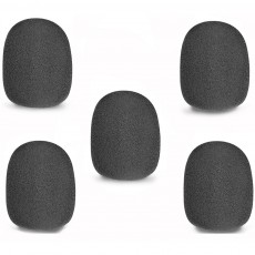 Stagg WS-S35/B5 Foam Microphone Windscreens, 5-Pack, Black