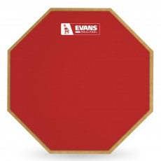 Evans Limited Edition RF12G-REF Barney Beats Practice Pad, 12 Inch - RED
