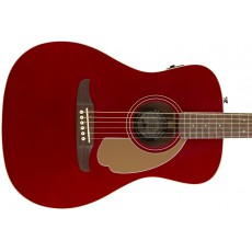 Fender Malibu Player Semi - Acoustic Guitar - Candy Apple Red