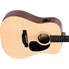 Sigma DM12EL+ 12-String Dreadnought Left-Handed Acoustic Guitar - Spruce/Mahogany - Satin Finish with EQ