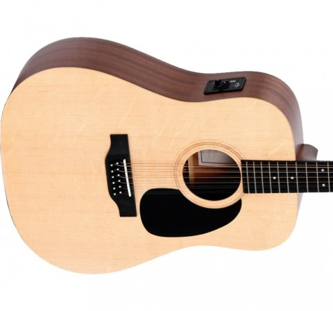 Sigma DM12EL+ 12-String Dreadnought Left-Handed Acoustic Guitar - Spruce/Mahogany - Satin Finishwith EQ
