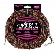 Ernie Ball 25' / 7.6 m  Braided Instrument Cable - Black/Orange