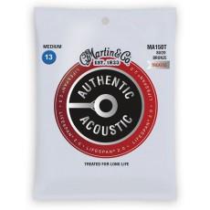 Martin MA150T Authentic Acoustic LifeSpan 2.0 Acoustic Guitar Strings, 80/20 Bronze, Medium, 13-56
