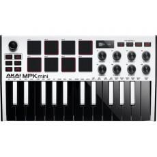 Akai Limited Edition MPK Mini Mk3 USB Controller - White