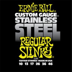 Ernie Ball Stainless Steel Regular Slinky Strings 10 - 46
