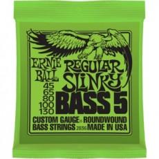 Ernie Ball 2836 5-String Regular Slinky Bass Strings (.045-.130)