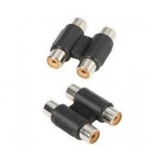 Adapter 2 x Mono RCA Phono Female to 2 x Mono RCA Phono Female.