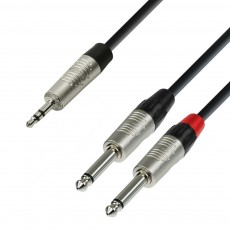 Adam Hall Audio Cable REAN 3.5 mm Jack stereo to 2 x 6.3 mm Jack mono 3.0 m