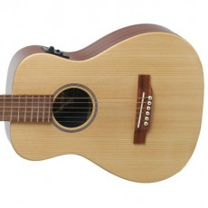 Martin Left Hand LX1EL Travel Size Semi Acoustic - Natural (Includes Case)