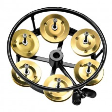 Meinl THH1B-BK Hi-Hat Tambourine, Brass Jingles - Black