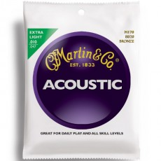 Martin M170 80/20 Bronze Extra Light Acoustic Strings (.010-.047)