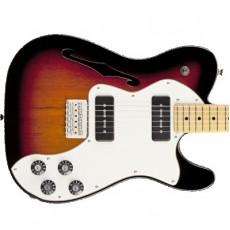 Fender Modern Player Telecaster Thinline Deluxe, Maple Fingerboard - 3-Colour Sunburst