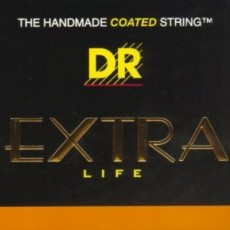 DR Strings EXR-11 Extra Life Clear Coated Phosphor Bronze Light Acoustic Strings (.011-.050)