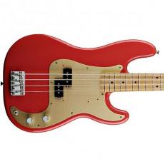 Fender 50s Precision Bass Maple Fretboard - Fiesta Red