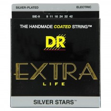 DR SIE9 Extra Life Silver Star Light Electric Strings (.009-.042)
