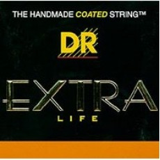 DR Strings EXR-10 Extra Life Clear Coated Light Acoustic Strings (.010-.048)