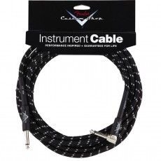 Fender Custom Shop Performance Series Angled Instrument Cable - 20' Black Tweed