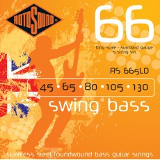 Rotosound 5-String Swing Bass 66 Stainless steel Light To Medium Bass Strings (.045-.130) Long Scale