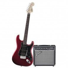 Fender Squier Affinity Strat Pack HSS with Frontman 15G Amp - Candy Apple Red