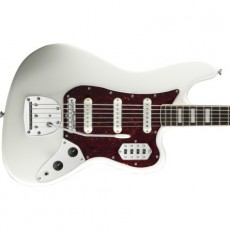 Squier Vintage Modified Bass VI (6-String), Rosewood Fingerboard, Olympic White
