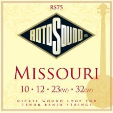 Rotosound RS75 Missouri Nickel Loop End Banjo Strings (.010-.032) Tenor