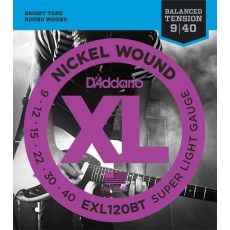 D'Addario EXL120BT Nickel Wound Super Light Electric Strings (.009-.040)