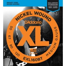 D'Addario EXL160BT Nickel Wound Medium Bass Strings (.050-.120) Long Scale