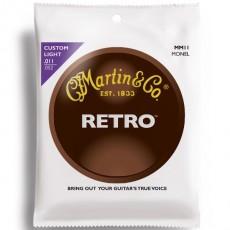 Martin MM11 Monel Retro Custom Light Acoustic Strings (.011-.052)