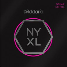D'Addario NYXL0942 Carbon Steel Alloy Super Light Electric Strings (.009-.042)