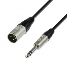 Adam Hall K4BMV0300 Microphone Cable REAN XLR male to 6.3 mm Jack stereo 3 m