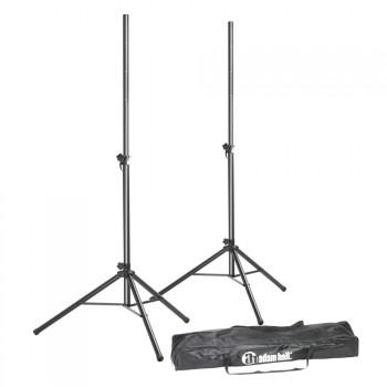 Adam Hall SPS023SET Speaker Stand Set, 2 Speaker Stands with Bag