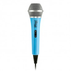 IK Multimedia iRig Voice - Blue, Handheld Mic for Tablets & Phones