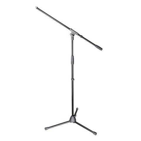 Adam Hall Stands S5BE - Microphone stand black with boom arm