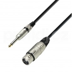 Adam Hall K3MFP0600 Microphone Cable XLR female to 6.3 mm Jack mono 3 m