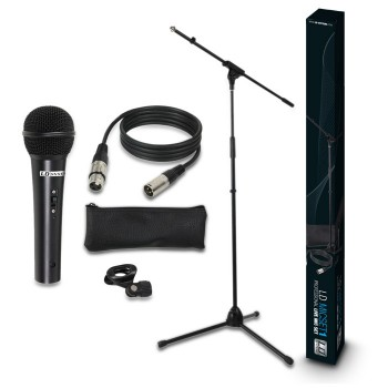 LD Systems MICSET1 - Microphone Set with Microphone, Stand, Cable and Clamp