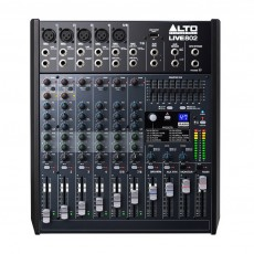 Alto Live 802 8-Channel 2 Bus Mixer with DSP and USB