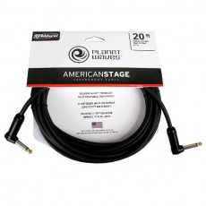 Planet Waves American Stage Angled Instrument Cable - 20 'Black