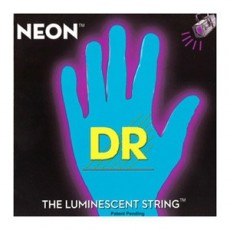 Dr Strings NBB-45 NEON Blue Luminescent Light To Medium Bass String (.045-.105)