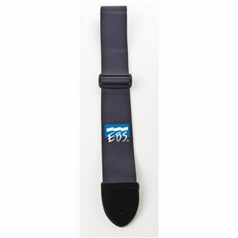 EBS STR Nylon Strap with Leather, X-tra long - Black